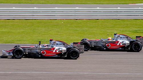 Two Formula 1 McLarens
