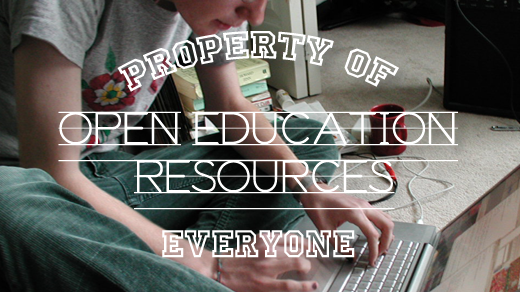 A student reading open education resources
