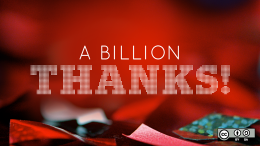 A billion thanks!
