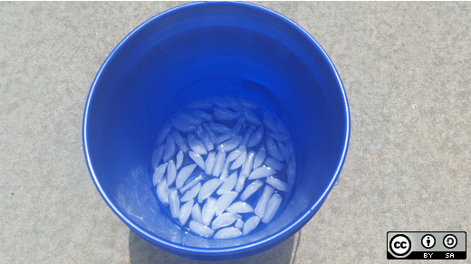 Bucket full of ice