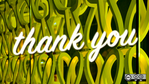Thank you on abstract yellow background