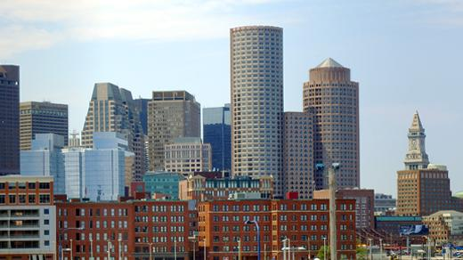 A skyline of the city of Boston