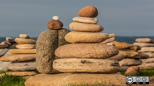 Rocks stacked