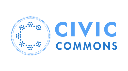 civic commons words on white background