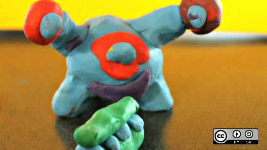 Clay monster animation
