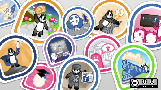 Fedora badges for the community