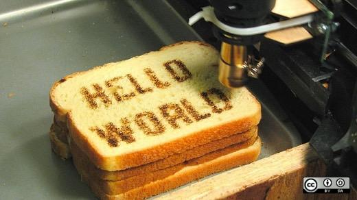 Beginners to Open Source theme: Hello World on bread
