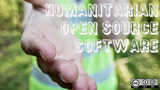 Humanitarian open source software, outreached hand