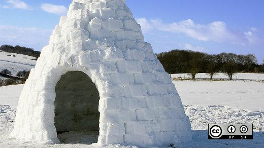 Igloo house on land