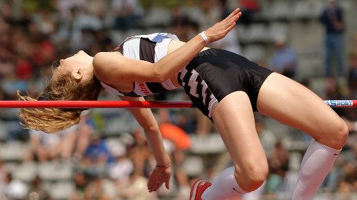 woman in a high jump competition