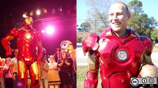 Jeremy Hansen Iron Man costume