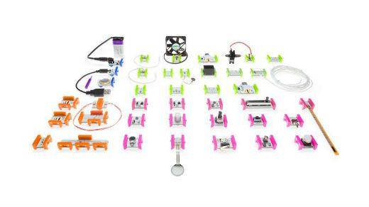 LittleBits hardware pieces