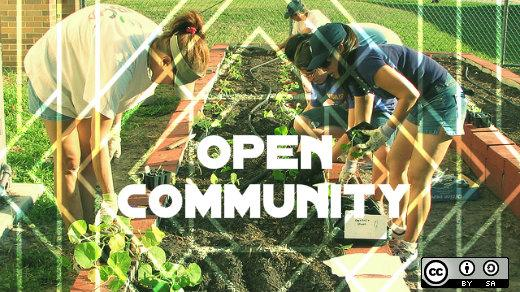 Open community, gardeners and food co-op