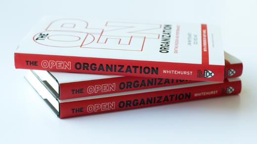 Open Organization book spines