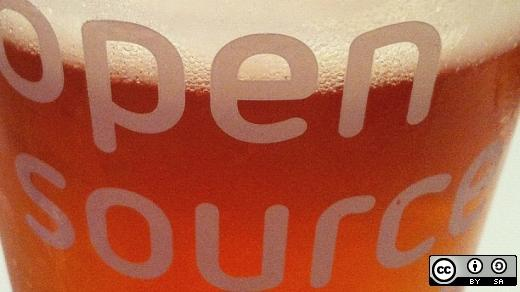 opensource.com beer glass