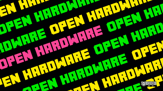Open hardware in green, yellow, pink