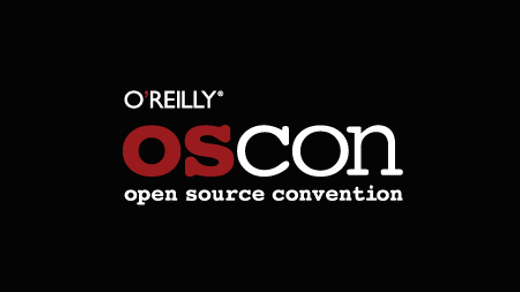 OSCON logo on black background