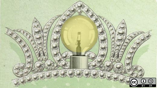 DIY tiara with lightbulb