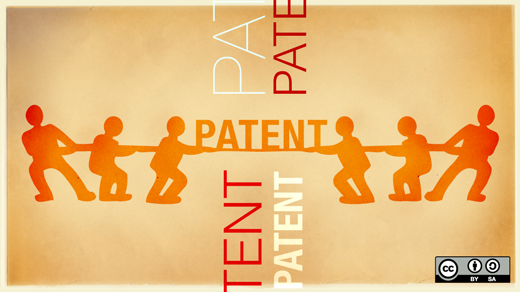 patent words with people playing tug of war