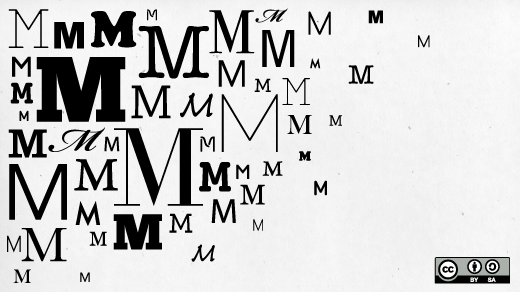 The letter M in many fonts.