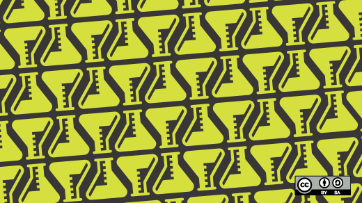 Yellow beaker pattern