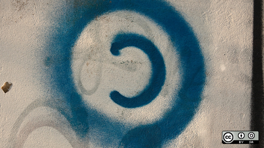 Blue grafitti copyleft