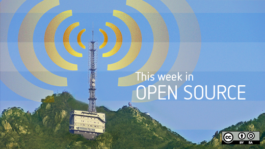 Weekly news with yellow radio beacon on the top of a mountatin