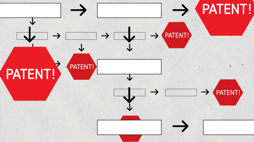 Patents in a workflow.