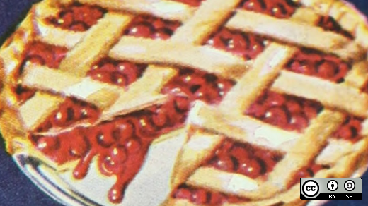 Raspberry pie with slice missing
