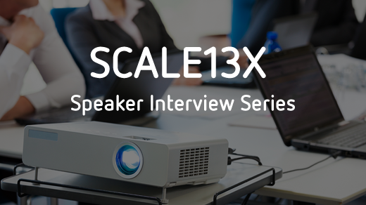 SCALE13X Speaker Interview Series, projector