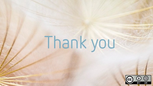 A thousand thanks from Opensource.com
