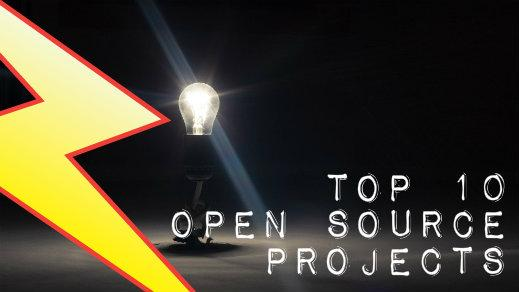 Top 10 open source projects of 2014 with lightbulb