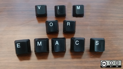 Vim or Emacs keyboard letters