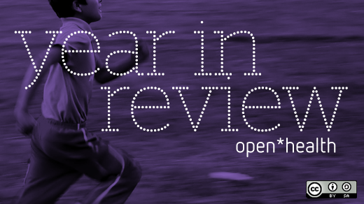 year in review open health on purple background