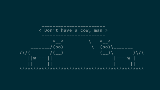 Have a cow at the Linux command line | Opensource com