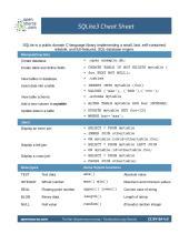SQLite cheat sheet