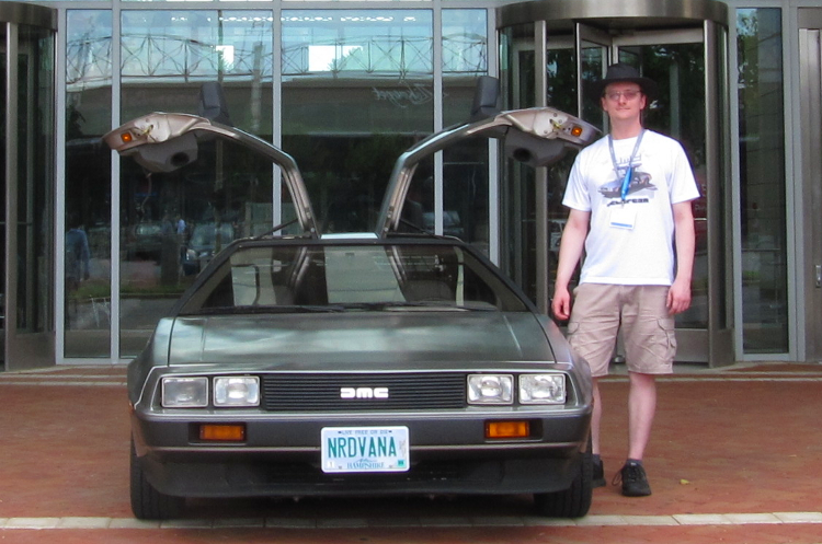 The author and the Delorean