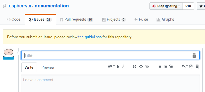 Guidelines for a repository