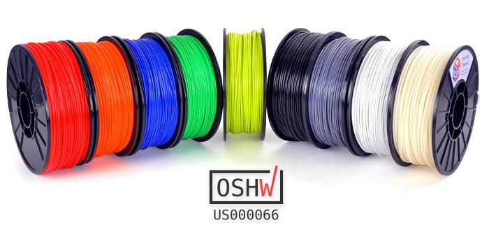Different colors of IC3D filament