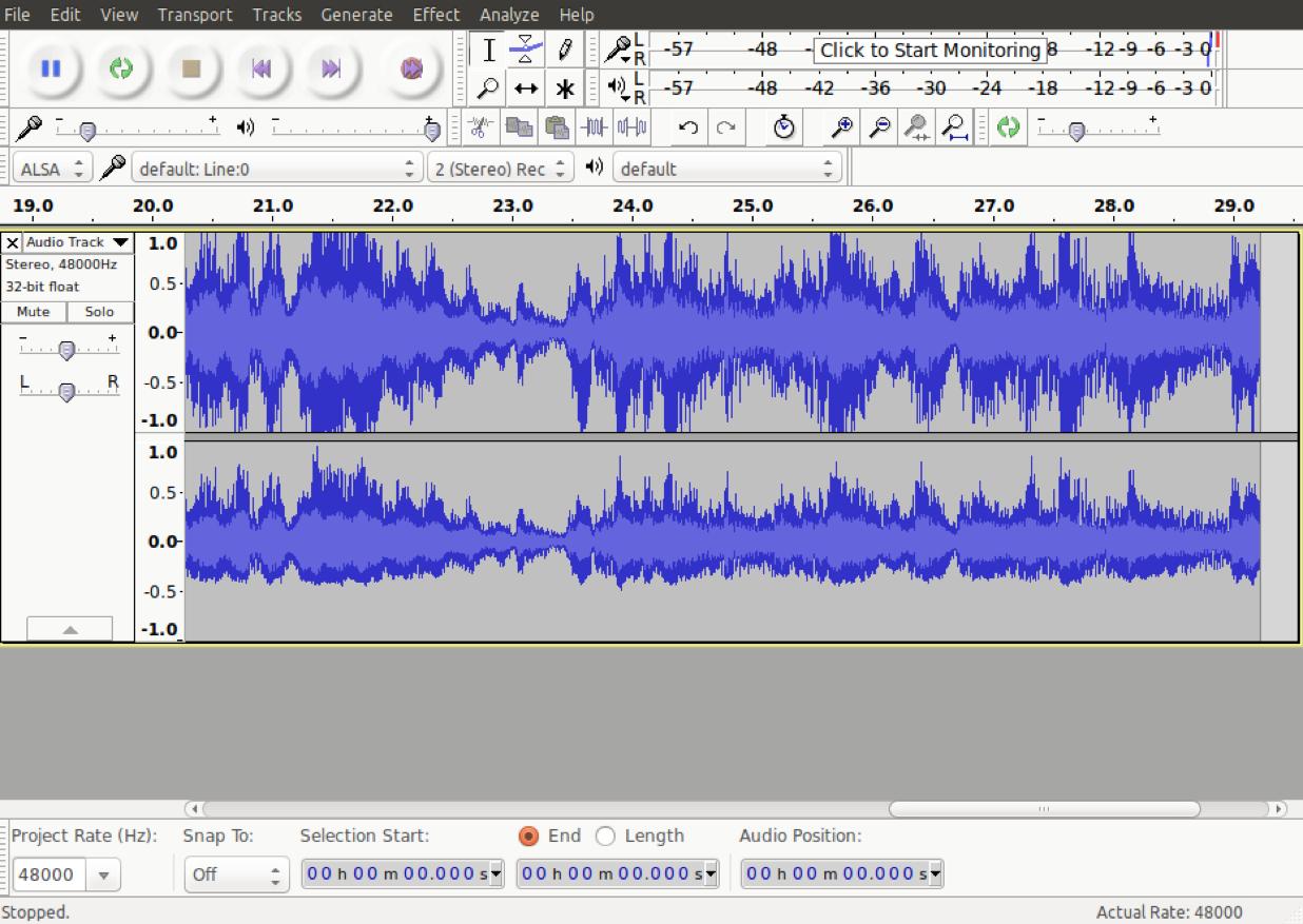 first recording audacity