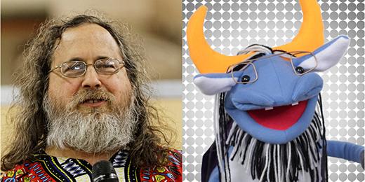 Richard Stallman puppet