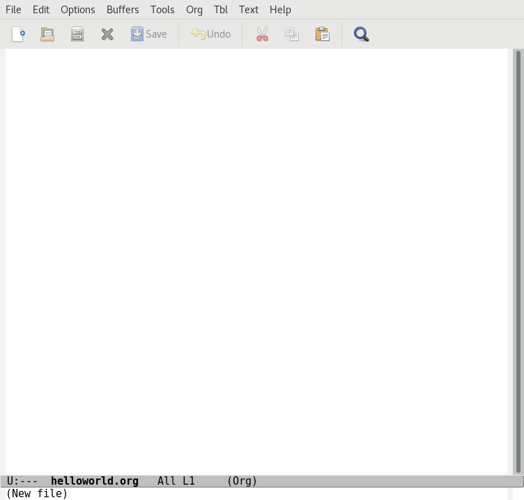 Emacs startup screen