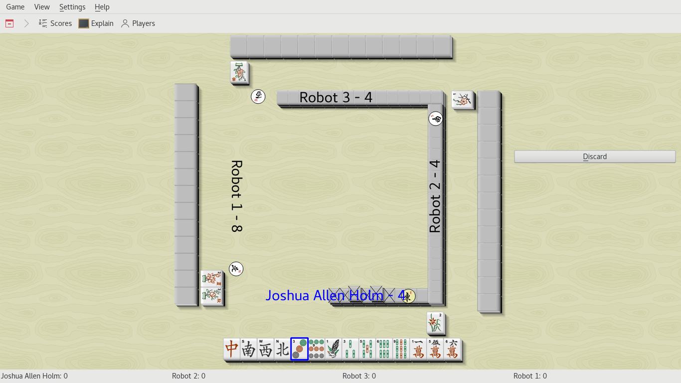 Kajongg screenshot