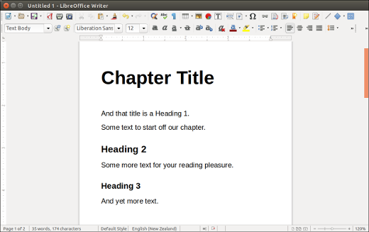 LibreOffice styles in action