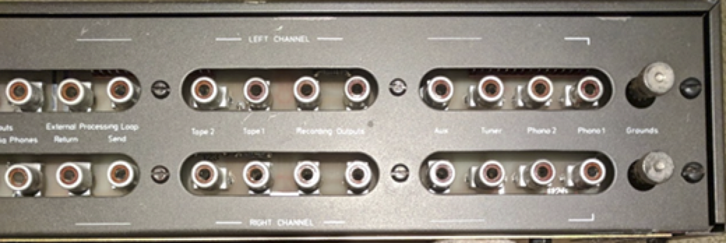 phono inputs and recording outputs