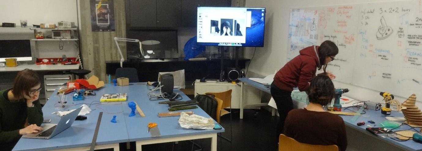 Working in the Aalto Fablab prototyping shop