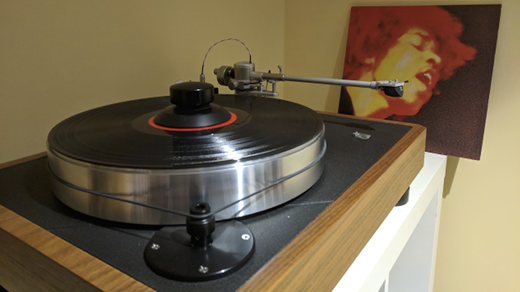 turntable with LP
