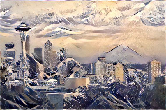 Style transfer example