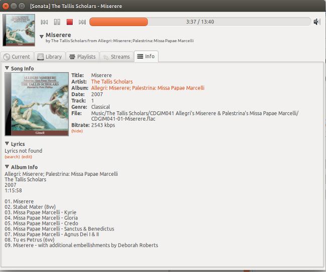 Sonata screenshot