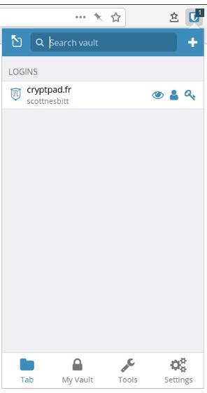 Bitwarden browser extension